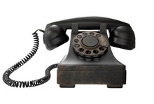 Retro Black Telephone 3D Illustration