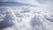 Leinwandbild Motiv Wolkengebilde -turm von oben Flugzeugaussicht
