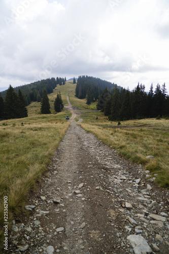 landscape with offroad on the mountain somewhere in Romania