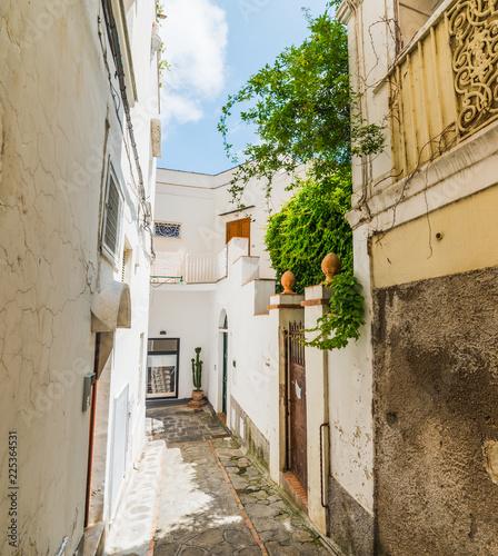 Poster Smal steegje Narrow alley in old town Capri