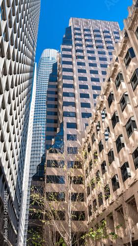 Spoed Foto op Canvas Stad gebouw San Francisco, towers in the financial district