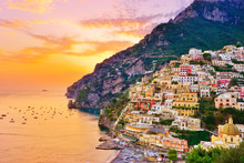 View Of Positano Village Along...