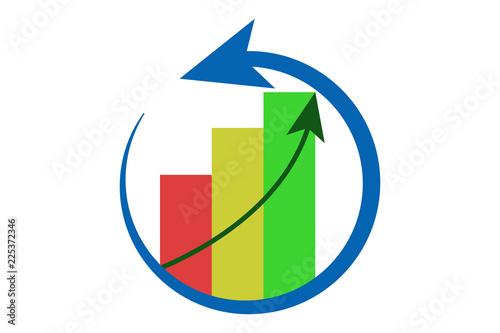 Photo Logo de desarrollo económico.