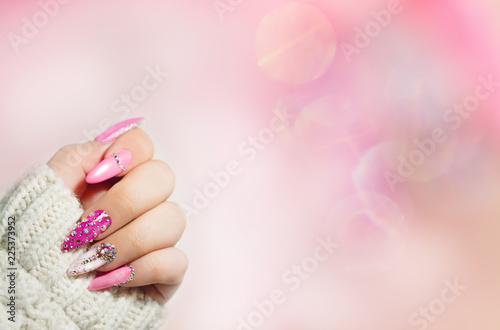 Fotografie, Tablou Colorful  Nail art