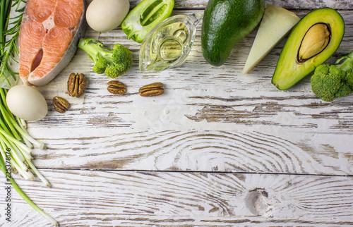 Fotografía  Ketogenic low carbs diet concept
