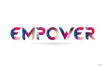Empower Colored Rainbow Word T...