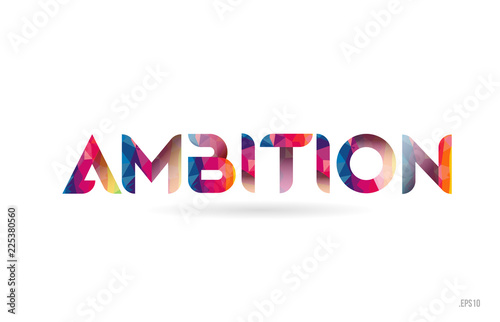 ambition colored rainbow word text suitable for logo design Canvas Print