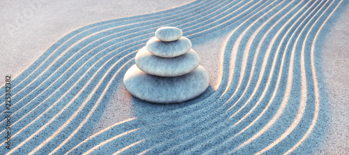 Deurstickers Stenen in het Zand Steinturm in Sandwellen - Meditation