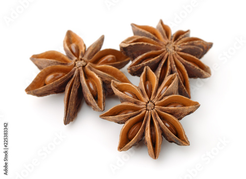 Dry star anise fruits