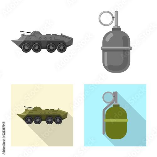 Photo  Vector design of weapon and gun icon