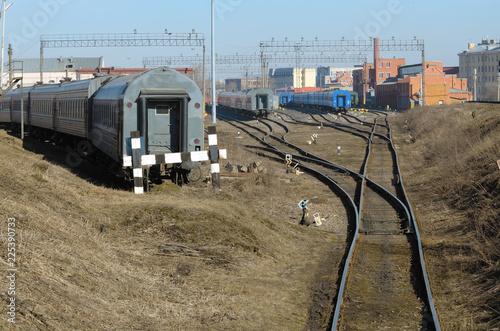 Fotografía  dead-end railway track
