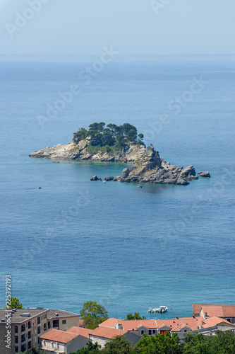 Two beautiful islets in the sea near Petrovac, Montenegro.