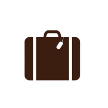Suitcase Icon. Vector Illustration