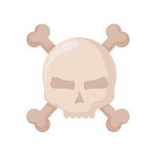 Happy Halloween Skull With Bon...