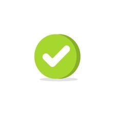 Tick Icon Vector Symbol, Carto...