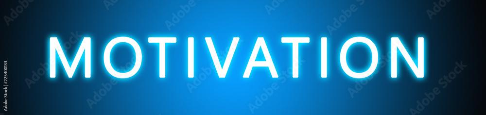 Fototapety, obrazy: Motivation - glowing white text on blue background