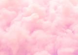 Kolorowy różowy puszysty bawełniany cukierek tło, miękkiego koloru słodki candyfloss, abstrakt zamazująca deserowa tekstura - 225402578