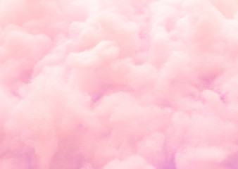 Colorful pink fluffy cotton candy background, soft color sweet candyfloss, abstract blurred dessert texture