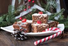 Chocolate Christmas Brownies