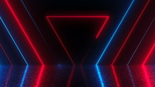 Abstract Triangles Neon Tunnel...