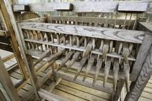 Old Wooden Carillon Bells Keyb...