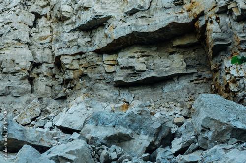 In de dag Stenen dark detailed gray stone background close up
