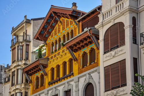 Arquitectura con estilo, Pamplona, Navarra, España Canvas Print