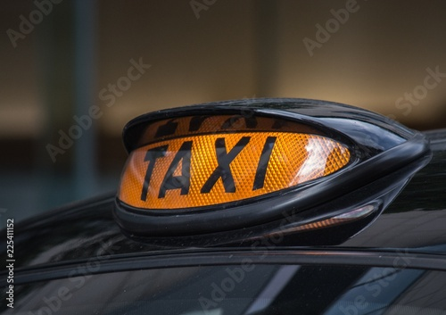 Canvas-taulu London Taxi Sign