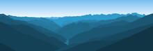 Beautiful Blue Vector Landscap...