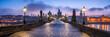 canvas print picture - Panorama der Karlsbrücke in Prag, Tschechische Republik
