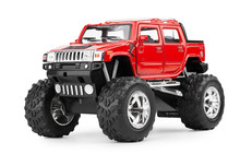 Toy Red SUV, Increased Ground ...