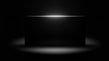 Black Monolith 3d Illustration With Copy Space