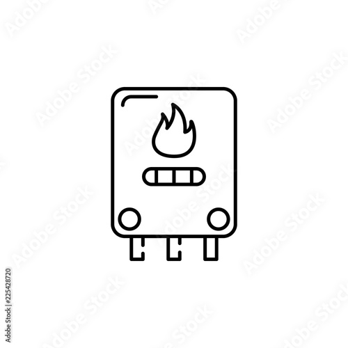 central heating, gas boiler icon  Element of temperature