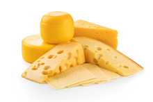 Piece Of Cheese Isolated On Wh...