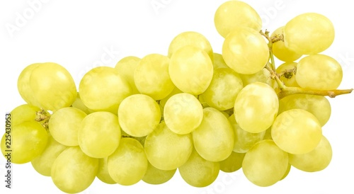 White Grape Cluster - Isolated