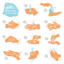 Wash Hands Vector Instructions...