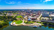 canvas print picture Aerial View of Downtown Montgomery, Alabama, USA Skyline