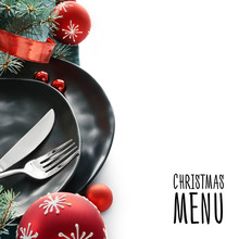 Christmas Menu Concept With Bl...