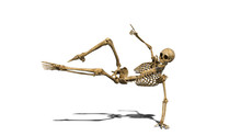 Funny Skeleton Dancing On The ...