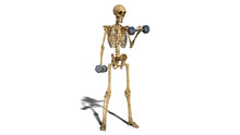 Funny Skeleton Exercising With...