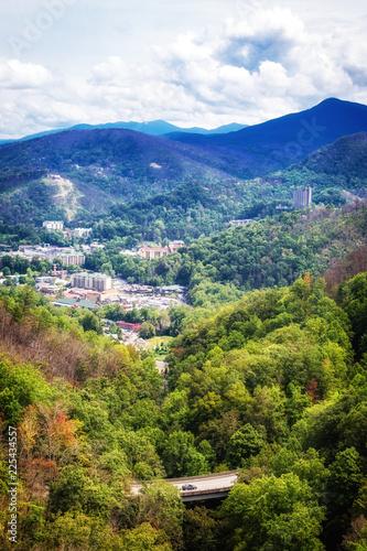Fotografie, Obraz  Aerial View of Gatlinburg Tennessee