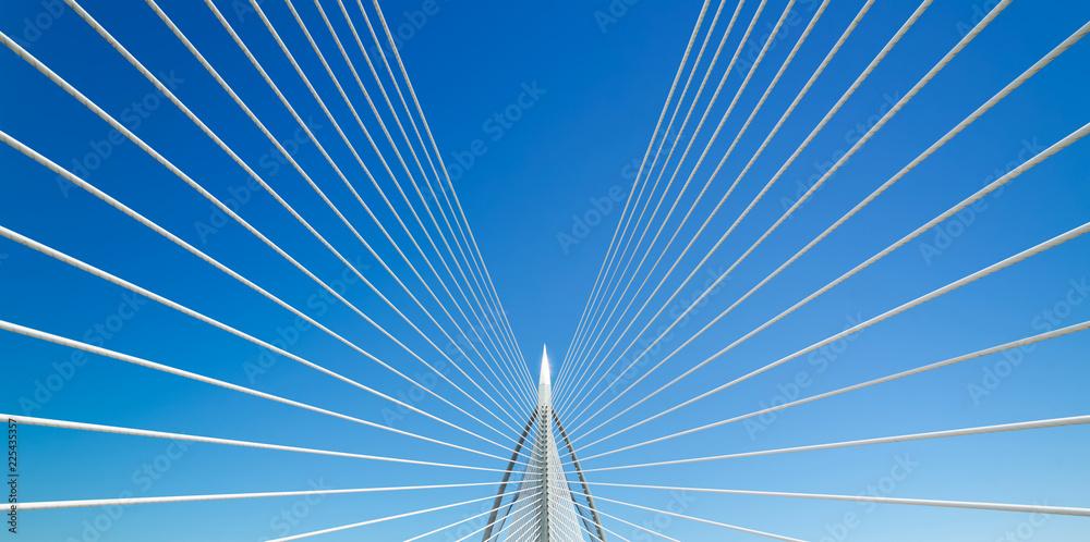Fototapety, obrazy: Beautiful bridge and blue sky .