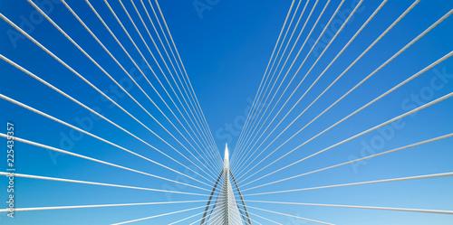 Fototapeta Beautiful bridge and blue sky . obraz