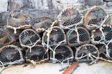 Stacked Crab Pots