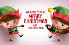 Christmas Kid Elves Vector Cha...