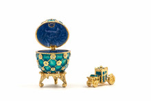 Faberge Eggs. Decorative Ceramic Easter Egg For Jewellery.