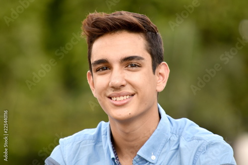 Smiling Hispanic Teen Boy Canvas Print