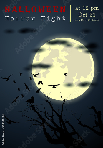 Keuken foto achterwand Diepbruine Abstract of Halloween, Template Banner and Background, Vector and illustration, eps 10