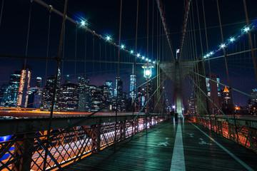Fototapeta Brooklyn Bridge at night