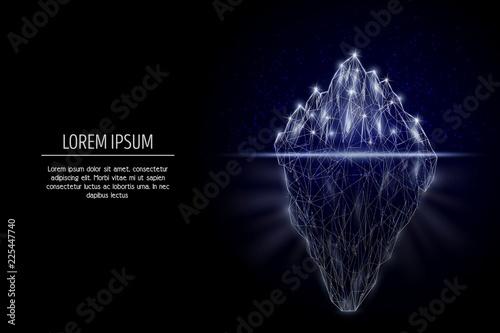 Fotografia Iceberg vector geometric polygonal art style design
